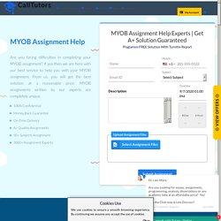 Professional MYOB Assignment Help Service
