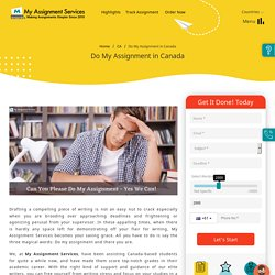 Do My Assignment - With High Quality Assurance
