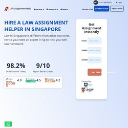 Law assignment help - Singapore Law Experts