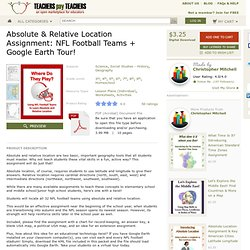 Absolute Relative Location Assignment Key Use NFL Football Teams - MisterMitchell.com