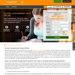 Online Help in School Assignment Writing by School Assignment Helpers