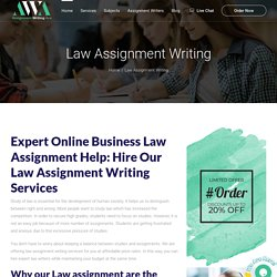 Law Assignment Help And Law Assignment Writing Service UK