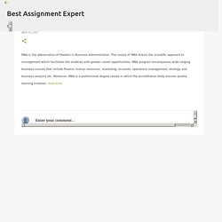 MBA Essay and Assignment Writing Help Services
