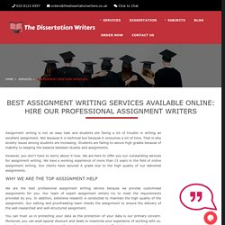 Assignment Writing Services UK, Assignment Writers Help