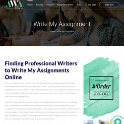 Write My Assignments Online, Do My Assignment Online Services