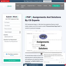 PHP Assignment Help From Experts