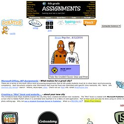 online writing assignments middle school