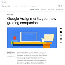Google Assignments, your new grading companion