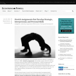 Stretch Assignments that Develop Strategic, Interpersonal, and Personal Skills