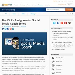 Assignments: Social Media Coach Series