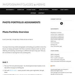 Photo Portfolio Assignments