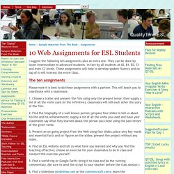 10 Web Assignments for ESL Students
