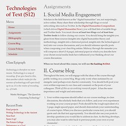 Technologies of Text – S12