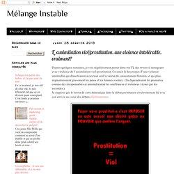 L' assimilation viol/prostitution, une violence intolérable, vraiment?