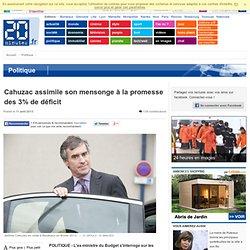 Cahuzac compare le mensonge sur son compte en Suisse à la promesse des 3% de déficit