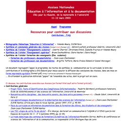 Assises pour l'education a l'information