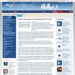 UNAF-Assises nationales sur le harcèlement à l'École