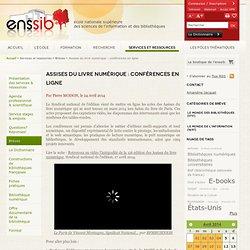 Assises du livre numérique : conférences en ligne