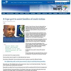 E Cape govt to assist families of crash victims:Monday 31 August 2015