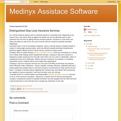 Medinyx Assistace Software: Distinguished Stop Loss Insurance Services