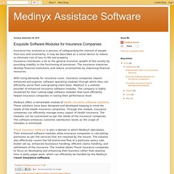 Medinyx Assistace Software: Exquisite Software Modules for Insurance Companies