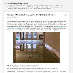 Take Expert Assistance for Los Angeles Water Damage Restoration