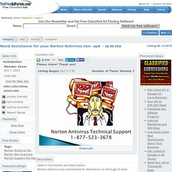 Boulder : Need Assistance for your Norton Antivirus non- upd : Computer
