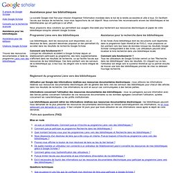 Assistance Google Scholar destinée aux bibliothèques