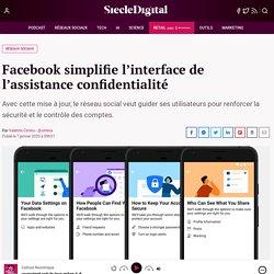 Facebook simplifie l'interface de l'assistance confidentialité