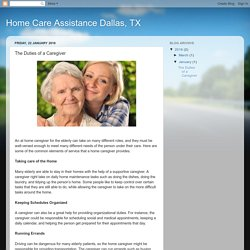 Home Care Assistance Dallas, TX: The Duties of a Caregiver