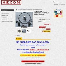 KIT ASSISTANCE ELECTRIQUE POUR VELO (batterie comprise) - HEXOM