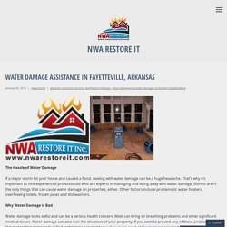 Water Damage Assistance in Fayetteville, Arkansas – NWA Restore It