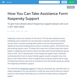 How You Can Take Assistance Form Kaspersky Support