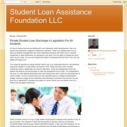 Private Student Loan Discharge A Legislation For All Students