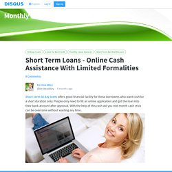 Short Term Loans - Online Cash Assistance With Limited Formalities
