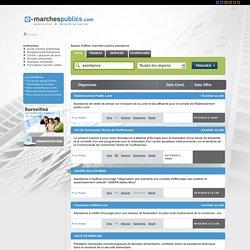 Appel d'offre assistance, marchés publics assistance, veille appels d'offres assistance en ligne