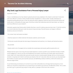 Why Seek Legal Assistance From a Personal Injury Lawyer