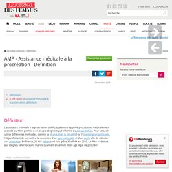 AMP - Assistance médicale à la procréation
