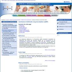 Assistance médicale à la procréation (AMP)