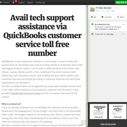 Avail tech support assistance via QuickBooks customer service toll free number
