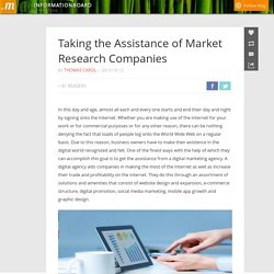 Taking the Assistance of Market Research Companies
