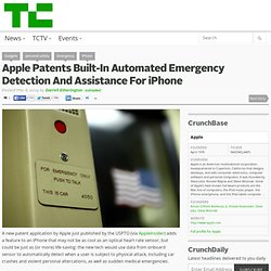 Apple Patents Built-In Automated Emergency Detection And Assistance For iPhone