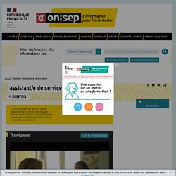assistant / assistante de service social - Onisep