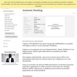 Assistant Booking, VIP MODELS, PARIS - FashionJobs.com France (#1775904)