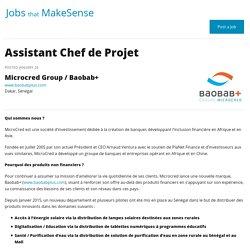 Assistant Chef de Projet