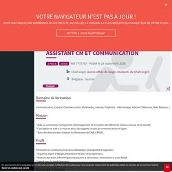 Assistant CM et Communication