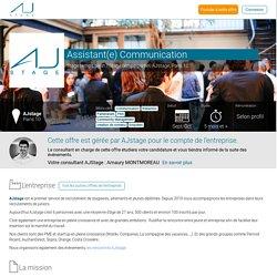 Offre de Stage temps plein/Stage temps partiel Assistant Communication Chez AJstage 1