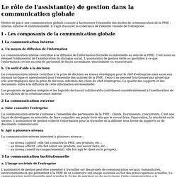 Le rôle de l'assistant(e) de gestion dans la communication globale