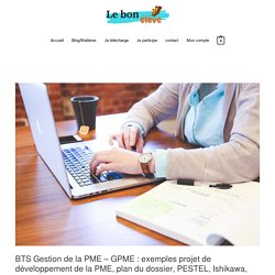 BTS Assistant de Gestion: exemples projet de développement de la PME, plan du dossier, PESTEL, Ishikawa, SWOT...