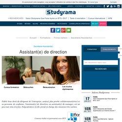 Devenir Assistant(e) de direction - Fiche métier - Studyrama